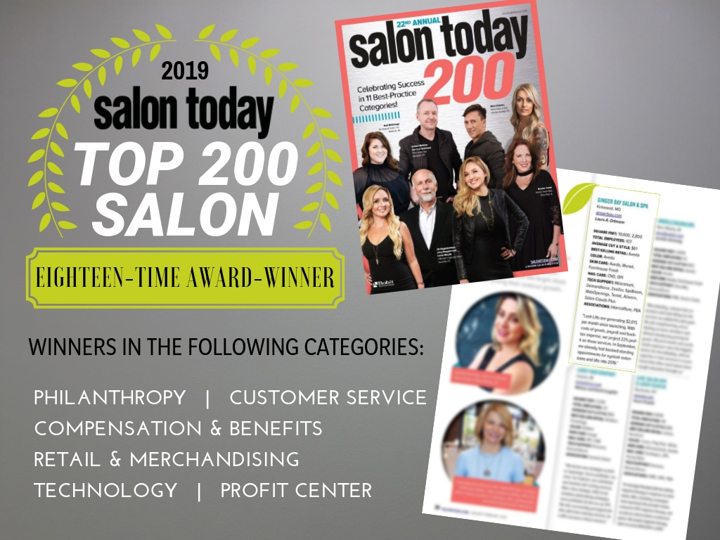 salon today top 200 salon award 2019 ginger bay salon & spa