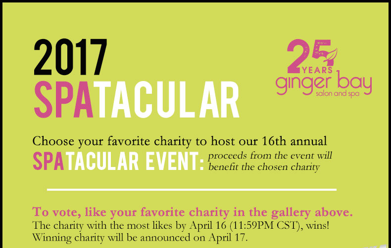 2017 Spatacular. Choose your favorite charity to host our 16th annual Spatacular Event.