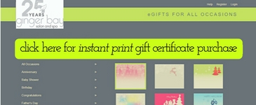 Egift Instant Print Certificate Purchase Link
